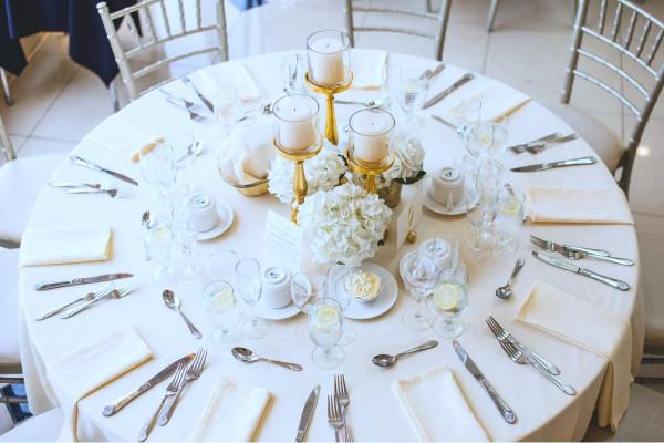 Tischdecke Klara, rund, weiß, Baumwolle, ohne Muster, Ø 210