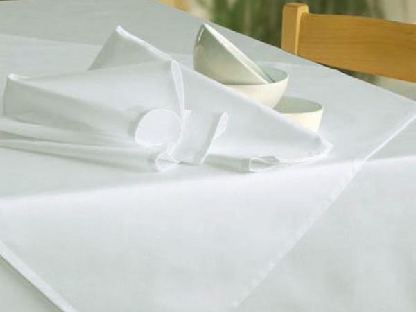 Tischdecke Klara, weiß, ohne Muster, 180x250