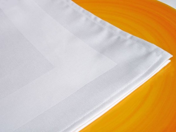 18 Stoffservietten, Padua, weiß, mit Atlaskante, 50x50 cm