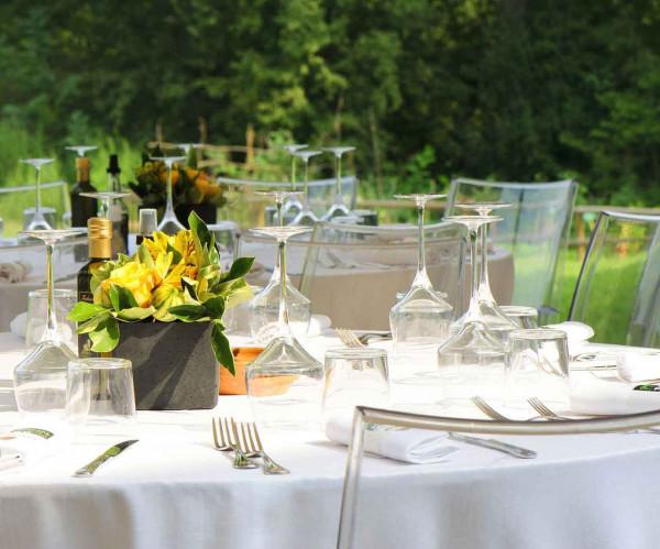 Tischdecke Klara, oval, weiß, ohne Muster, 160x300