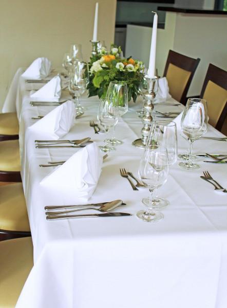 Tischdecke Klara, weiß, ohne Muster, 140x340