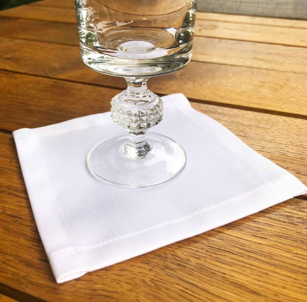 50 Cocktailservietten Untersetzer-Deckchen weiß 12x12cm