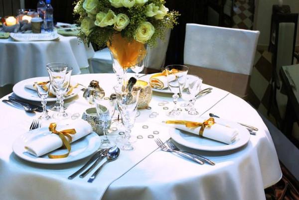 Tischdecke Klara, rund, weiß, Baumwolle, ohne Muster, Ø 130