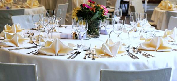 Tischdecke Klara, rund, weiß, Baumwolle, ohne Muster, Ø 225