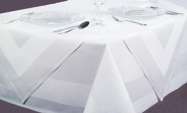 Mitteldecke Padua, weiß, mit Atlaskante, 100x100