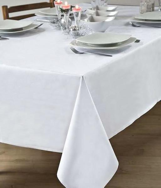 Tischdecke Atlanta, weiß, ohne Muster, 130x260